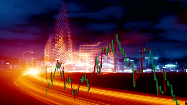 stock-market and  real economy - dow jones industrial average video stock e b–roll