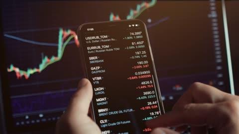 stocktrader analysiert gewinnchance investieren bitcoin - bitcoin stock-videos und b-roll-filmmaterial