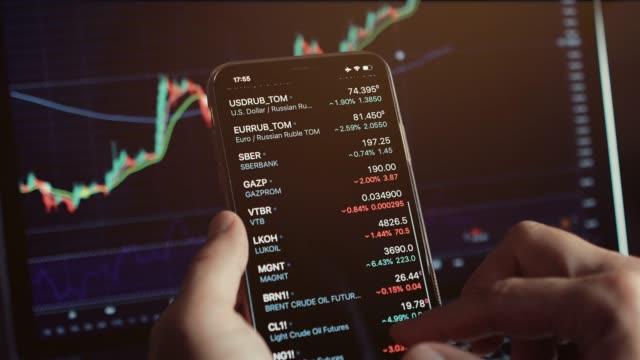 vidéos et rushes de stocktrader analysant l'opportunité de profit investir bitcoin - bitcoin