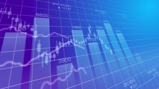 vídeos de stock e filmes b-roll de stok market exchange trading gambling concept computer graphics 4k seamless looping video background - circular economy