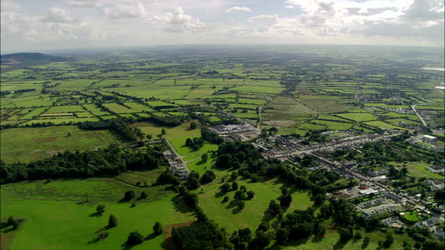 Stokestown - Aerial View - Connaught, County Roscommon, Ireland Stokestown House general view stock videos & royalty-free footage
