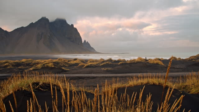 DS Stokksnes beach with dramatic sky video