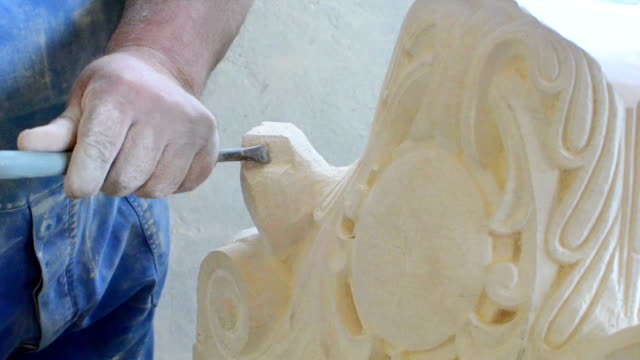 stone mason sculpting 3 video