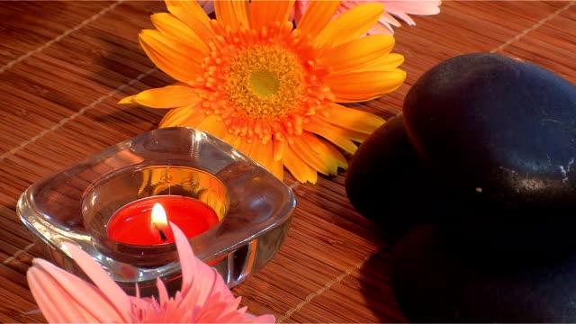 masaż koncepcja - terapia lastone filmów i materiałów b-roll