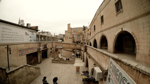 Stone Streets on Place of Old Canal Quaint Form Stairs Sanliurfa video