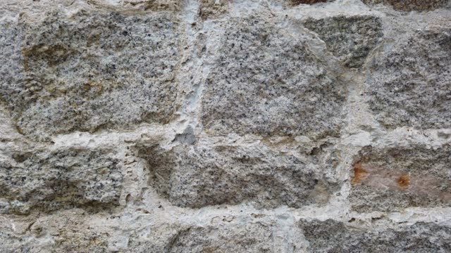 steinmauer nahaufnahme - stein baumaterial stock-videos und b-roll-filmmaterial