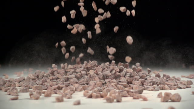 stones fall in slow motion - pietra roccia video stock e b–roll