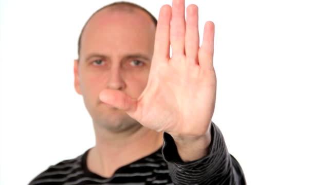 vídeos y material grabado en eventos de stock de gesto de detenerse - stop sign