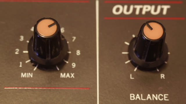 stop motion analog mixer audio output video