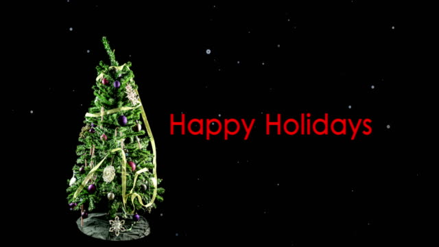 Stop Motion Christmas Tree Loop video