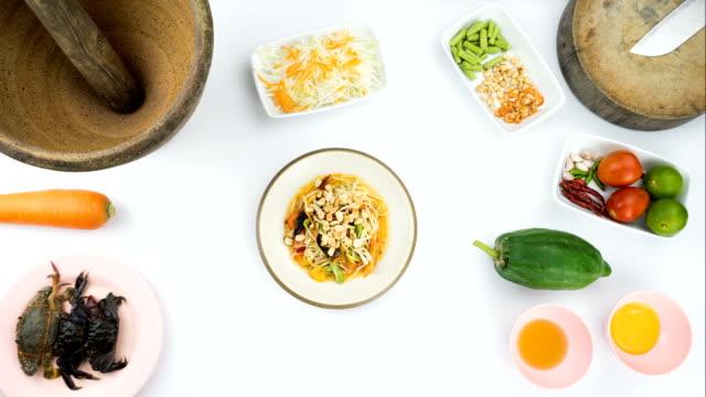 Stop motion : making papaya salad video