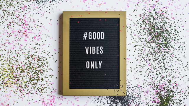 Stop Motion Message #GoodVibesOnly