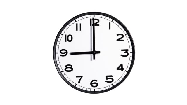 Stop Motion of Clock Stop motion of clock form 12AM to 12 PM wall clock stock videos & royalty-free footage