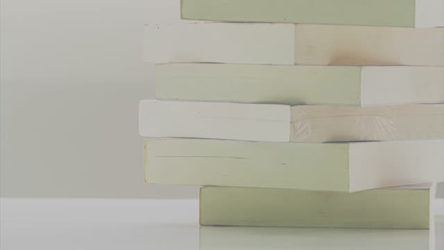 stop motion placing books