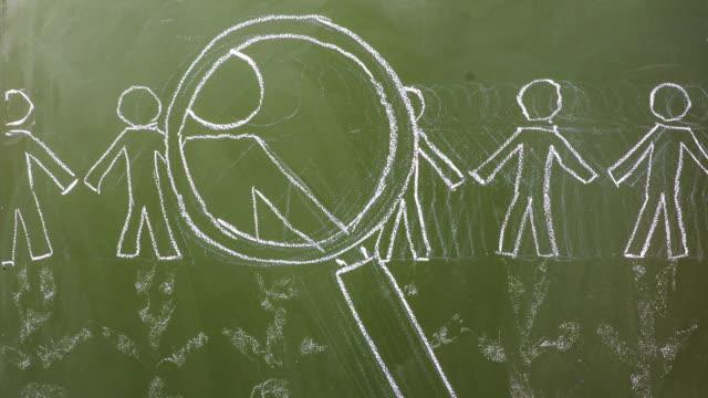 Stop Motion Scribbling on a Chalkboard. video