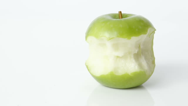 Stop Motion Sequence Of Apple Being Eaten