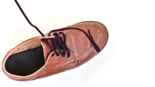 stop motion vdo brown shoes. - icon set healthy video stock e b–roll