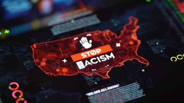 Stop Racism Social Issues Background - video