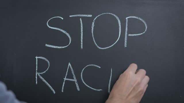 Stop racism.