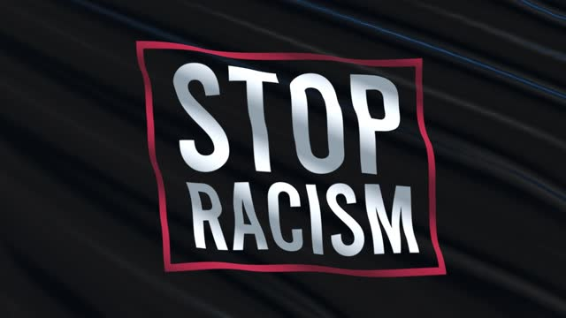 Stop Racism Waving Flag Stop Racism Waving Flag civil rights stock videos & royalty-free footage