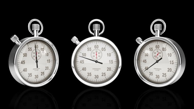 Stop Watch Time Lapse, Three Different Angles video