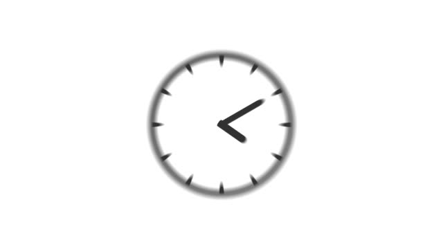 CLOCK : stopping at 12:00 o'clock (WIPE) video