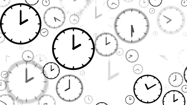 CLOCKS : stopping at 2:00 o'clock (LOOP) video