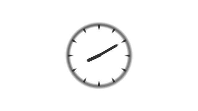 CLOCK : stopping at 4:00 o'clock (WIPE) video