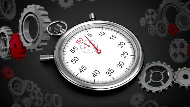 Stopwatch and gears