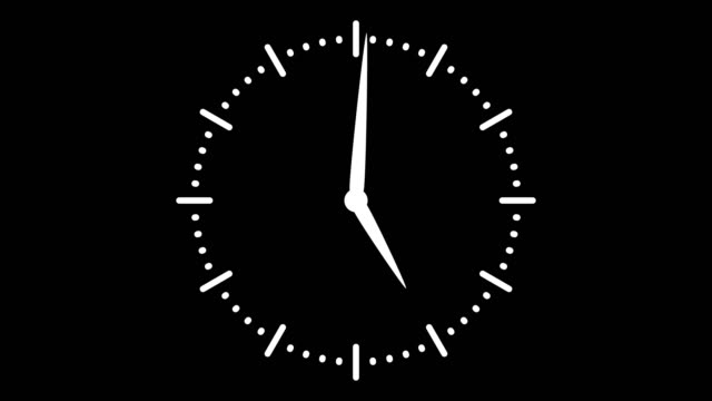 stopwatch animated icon. clock with moving arrows. time run. cartoon flat animation of ui element - clock стоковые видео и кадры b-roll