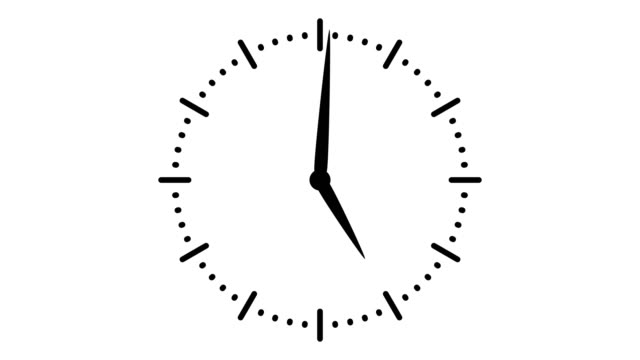 Stopwatch animated icon. Clock with moving arrows. Time run. Cartoon flat animation of UI element available in 4K FullHD