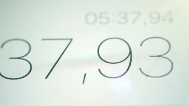 Stopwatch Digits on the Screen video