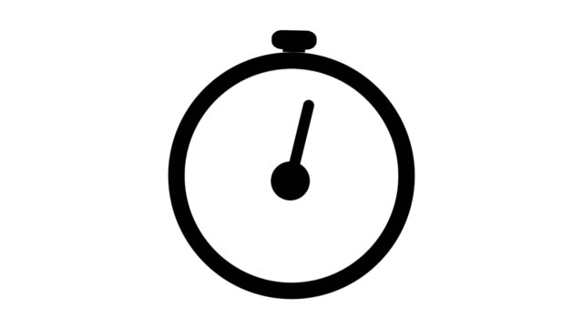 stopwatch flat animation icon design moving arrows on white background - clock стоковые видео и кадры b-roll