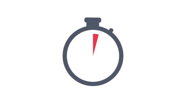 Stopwatch flat animation icon design moving arrows on white background. Stopwatch flat animation icon design moving arrows on white background. 4k video timer stock videos & royalty-free footage