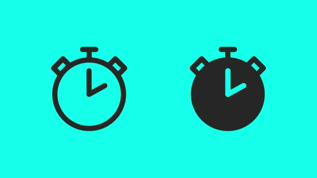 Stopwatch Icons - Vector Animate Stopwatch Icons Vector Animate 4K on Green Screen. timer stock videos & royalty-free footage