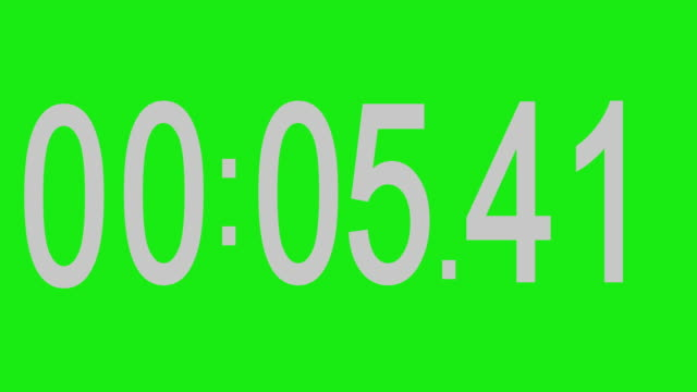 Stopwatch numbers green background