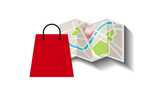 store location on map , video animation video