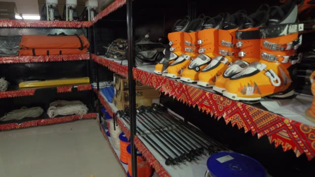 Store of mountaineering equipment