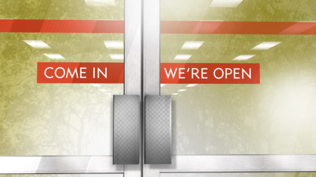 storefront - door open - open sign stock videos & royalty-free footage