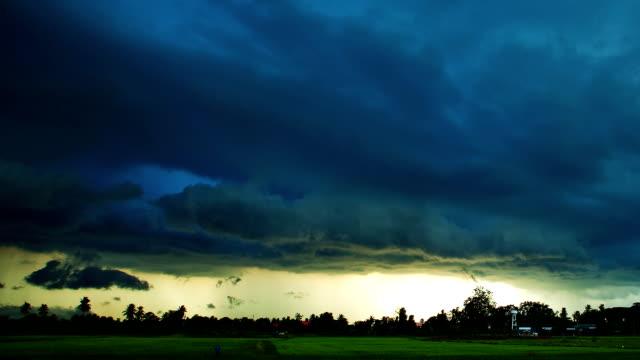 Storm cloud moving time lapse