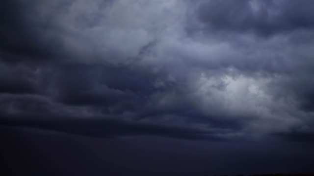 Storm clouds and lightning in the sky. video