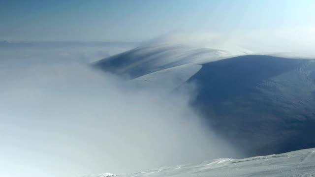 storm clouds in mountains timelapse - snöstorm bildbanksvideor och videomaterial från bakom kulisserna
