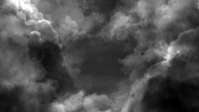 vidéos et rushes de animation de boucle de nuages d'orage - ciel orageux