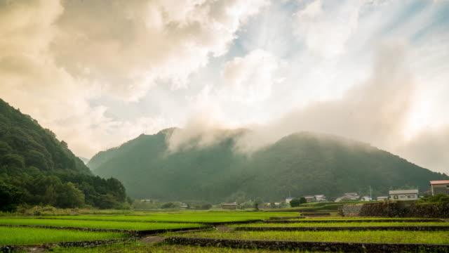 嵐雲山寝返り - 水田点の映像素材/bロール