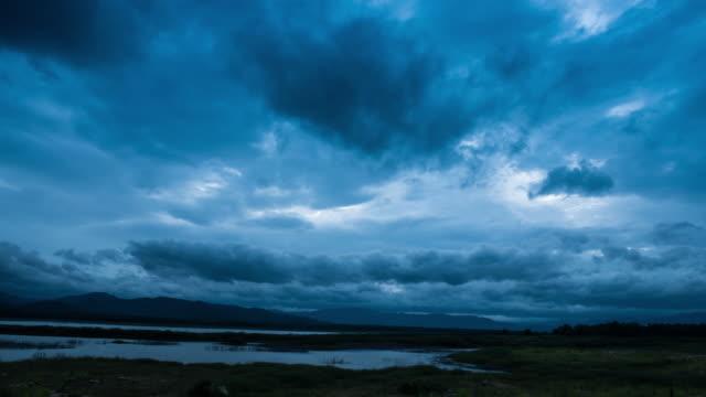 Storm clouds Time Lapse Reservoir Area video