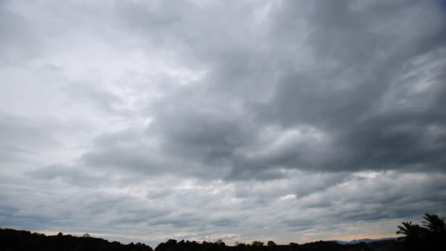 Storm clouds time lapse video