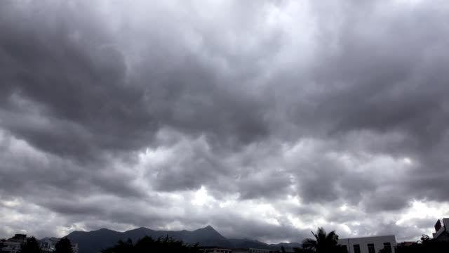Storm clouds time-lapse in the typhoon Sky video