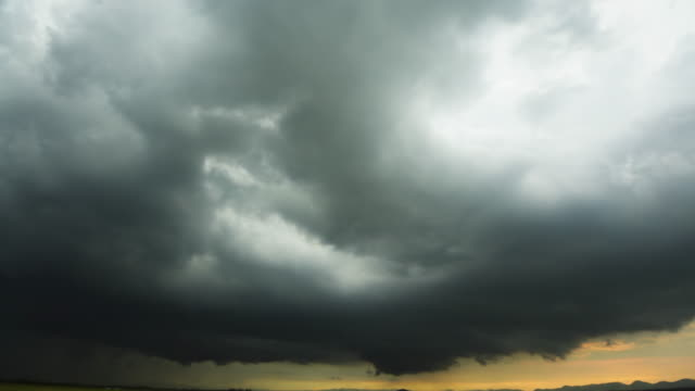 Storm front with rain video