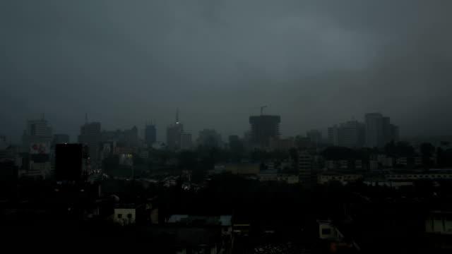 Storm Over Nairobi Town, wide shot video