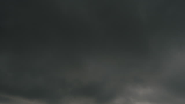 Storm overcast clouds, real time. video
